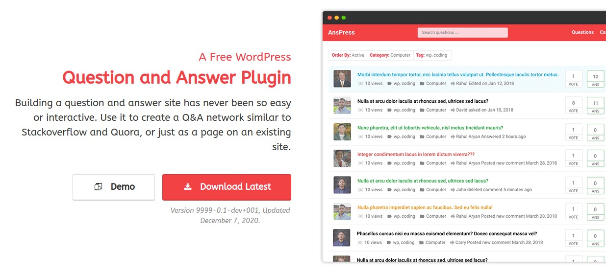 WordPress Question and Answer plugins