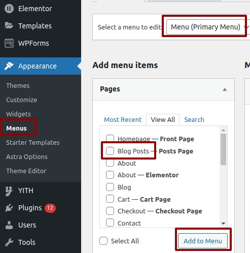 Create a Separate Page for Blog Posts in WordPress