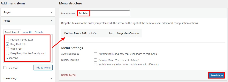 Hide a Mobile Menu in WordPress